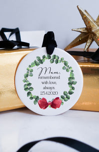 Memorial loved one Christmas Ceramic Ornament