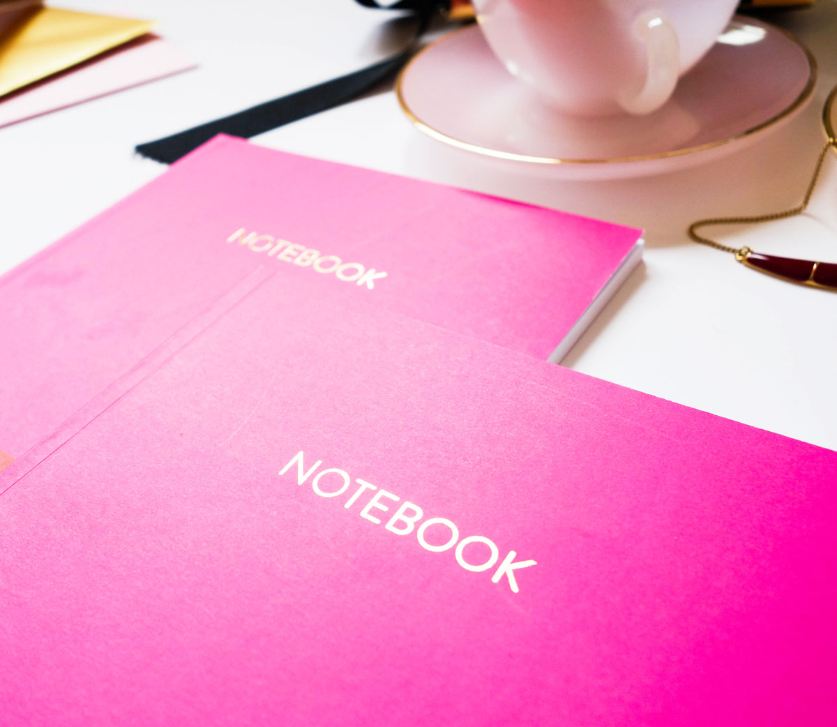 Fuchsia and Red Large Notebook