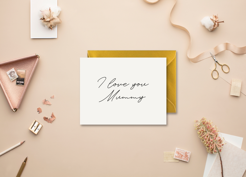 'I Love You Mama/Mummy/Mum/Mam' Modern Minimal Greeting Card