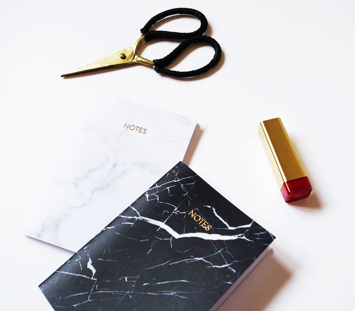 Marble Small Notebook (Black)