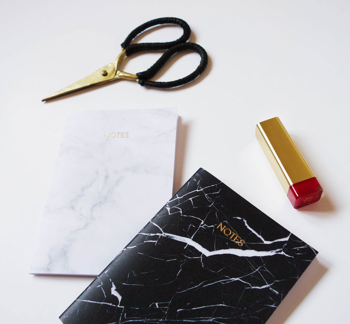 Marble Small Notebook (White)