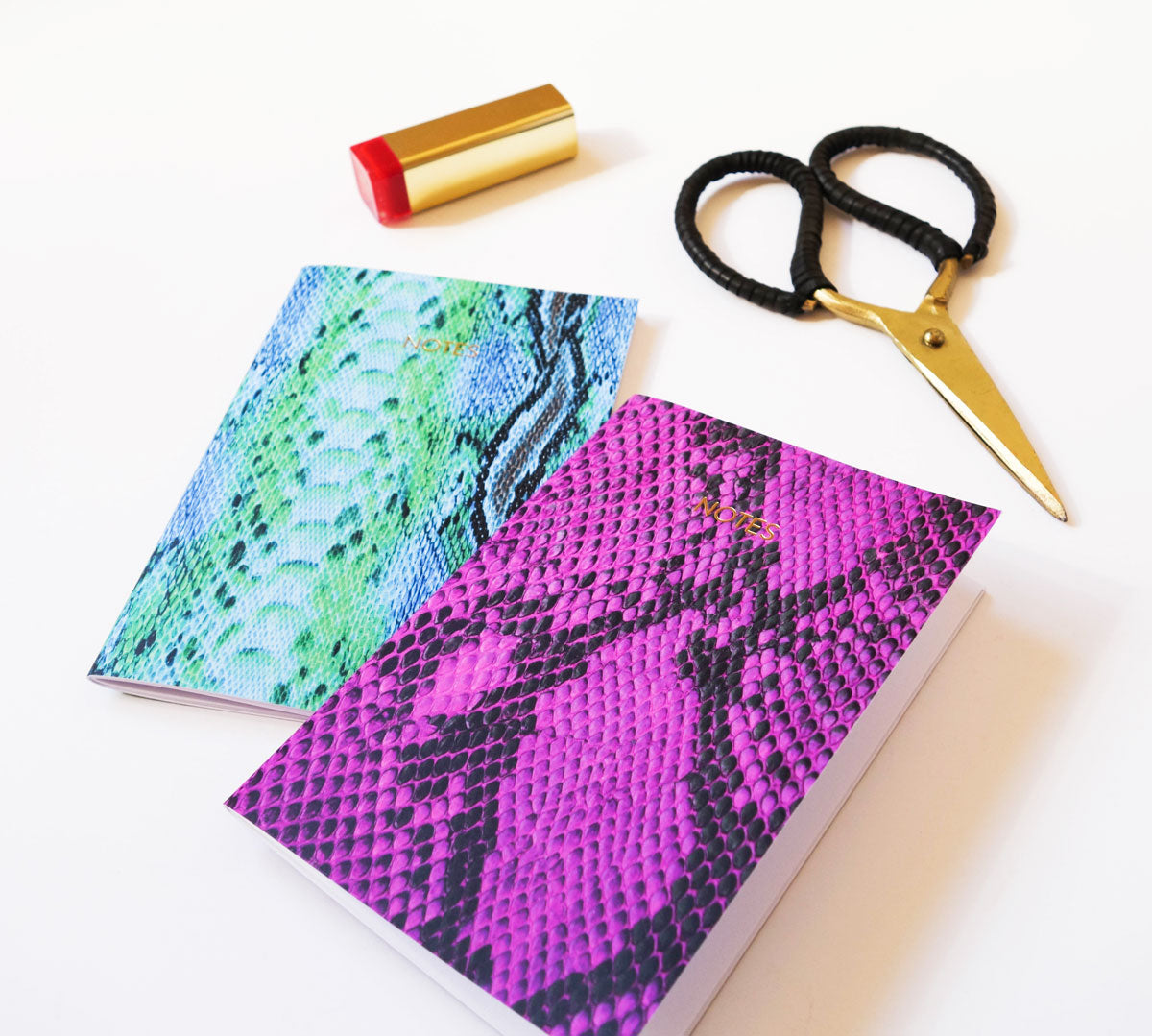 Snakeskin Small Notebook (Purple)