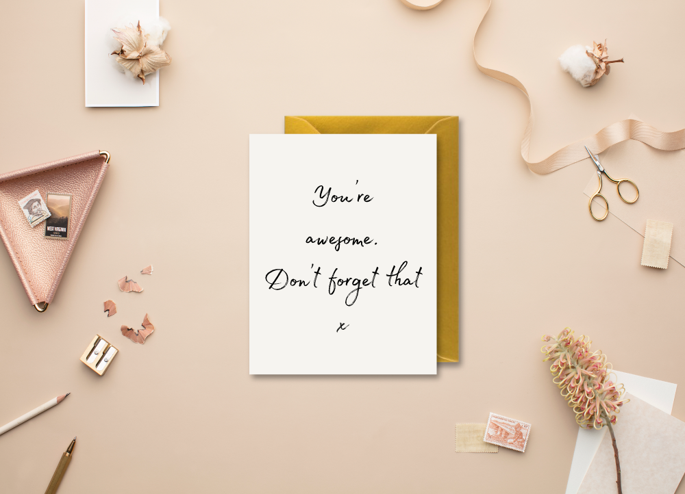 'You're Awesome' Modern Minimal Greeting Card