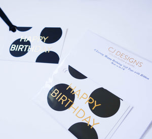 Polka dot 'Happy Birthday' Gift Tags