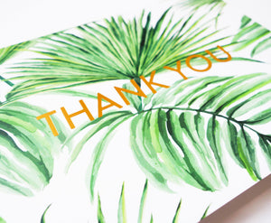 Palm Tree 'Thank You' Greeting Card