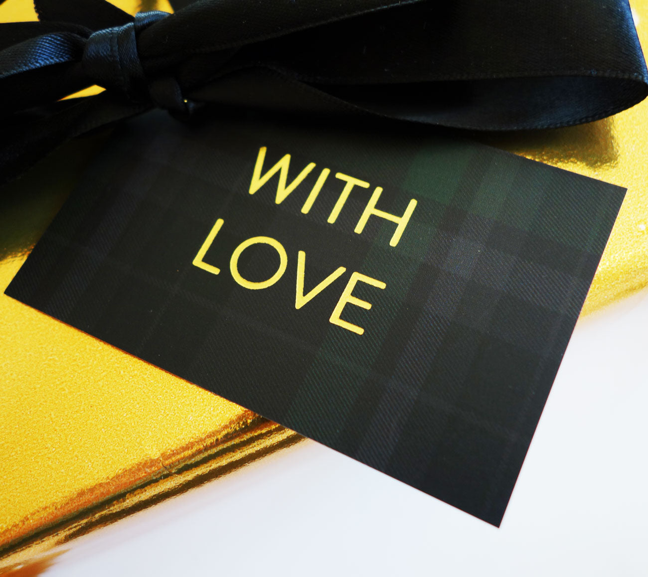 Green Tartan Christmas 'With Love' Gift Tags