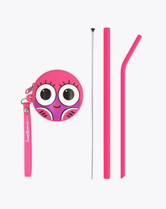 tilly fish | bendies kids silicone reusable straws | pink