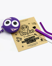 Load image into Gallery viewer, otto octopus | bendies kids silicone reusable straws | purple