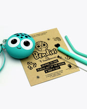 Load image into Gallery viewer, turtle frank |  bendies kids silicone reusable straws | teal