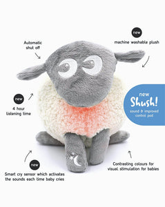ewan the shushing sheep | Baby Sleep Soother | gray