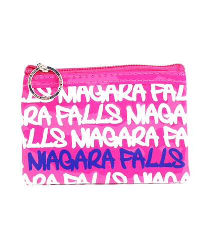 Fuchsia Niagara Falls Rectangle Coin Purse