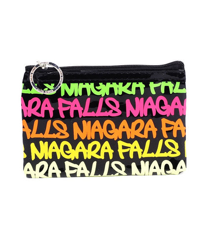 Neon Niagara Falls Rectangle Coin Purse