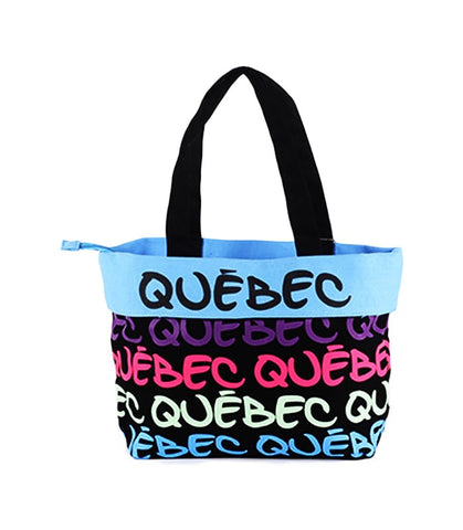 Pink & Blue Quebec Fold Over Handbag