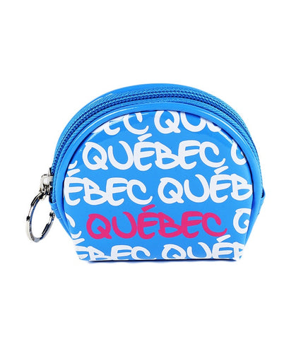 Turquoise Quebec Round Coin Purse