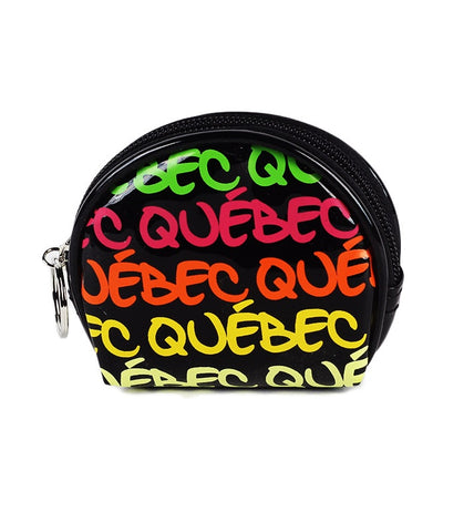 Neon Quebec Round Coin Purse