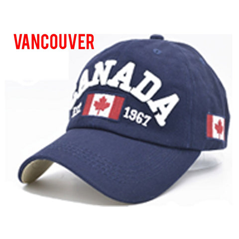 Navy Vancouver Classic 3D Embroidery Cap