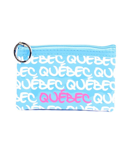 Turquoise Quebec Rectangle Coin Purse