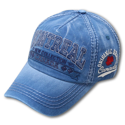 Teal Blue Montreal New Collection Washed Cap