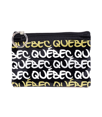 Black & Gold Quebec Rectangle Coin Purse