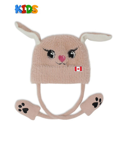 Pink Pikatou Moving Ears Kids Beanie