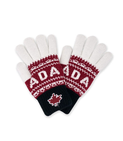 Black/Maroon/Cream Canada Athletic Magic Gloves