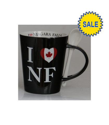 Black I Heart Nf Ceramic Mug 13 Oz