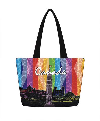 Multi Canada Landmark Tote Bag