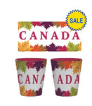 Multi Canada Fall Leaves Ceramic Shot Glass