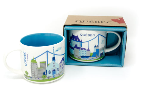 15 Oz Quebec Skyline Coffee Shop Mug