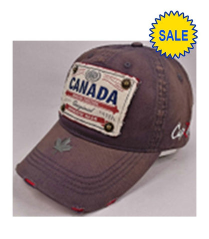 Charcoal Canada Authentic Gear Patch Washed Embroidery Cap