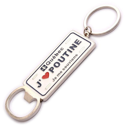 J'Aime Poutine Vanity Plate Bottle Keychain
