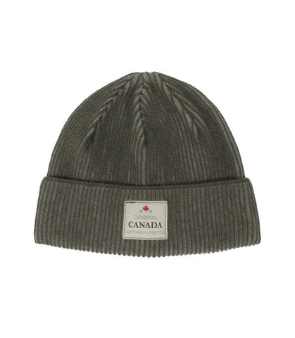Olive Green Canada Striped Unisex Beanie