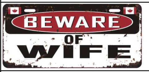 License Plate Beware Of Wife