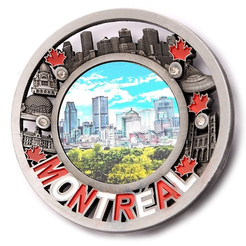 Montreal Plate Metal Magnet