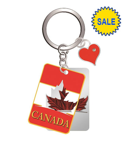 Silver Maple Leaf 2 Layer Keychain