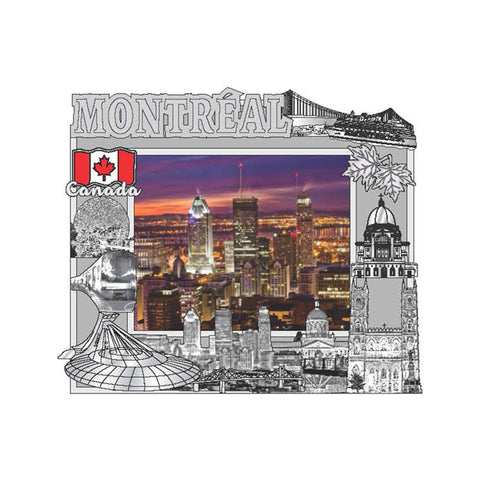 Montreal Photo Frame Magnet