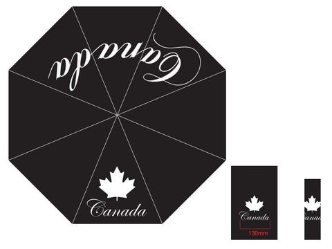 Canada Script Black Umbrella