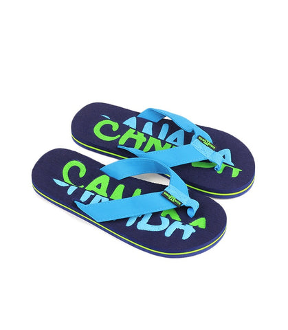 Navy Split Canada  Press Men Flip Flop