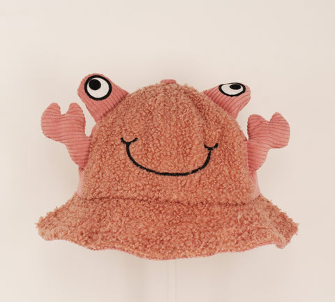 Kids Pink Frog Bucket Cap
