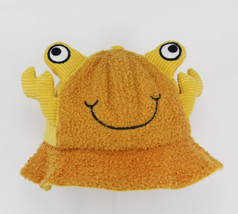 Kids Yellow Frog Bucket Cap