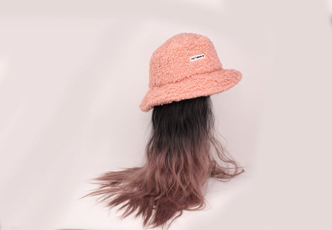 Pink Bucket Hat With Two-Tone Hair