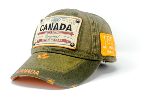 Army Canada Authentic Gear Patch Washed Embroidery Cap