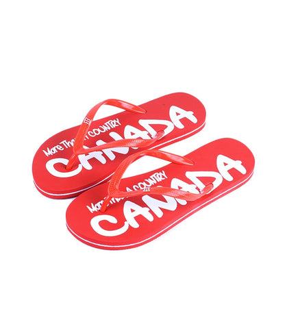Red & White Canada Girls Flip Flop More Than A Country