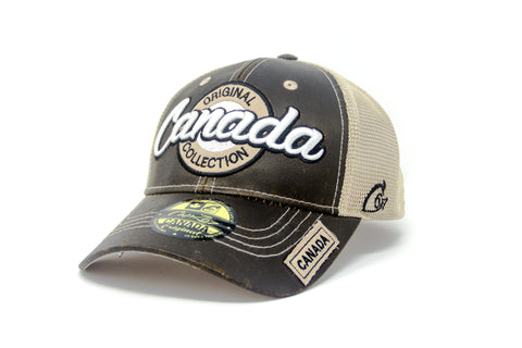 Brown/Sand Canada Original Collection 2 Tone 3D Embroidery Cap