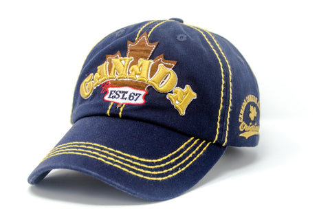 Navy Canada Maple Patch 3D Embroidery Cap