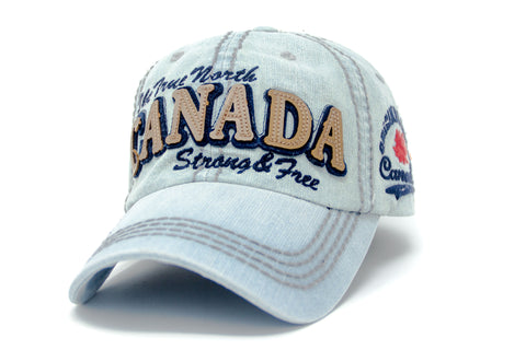 Blue Canada Strong & Free Washed Cap
