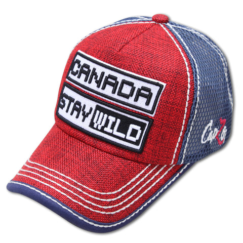Red/Navy Canada Stay Wild Cap