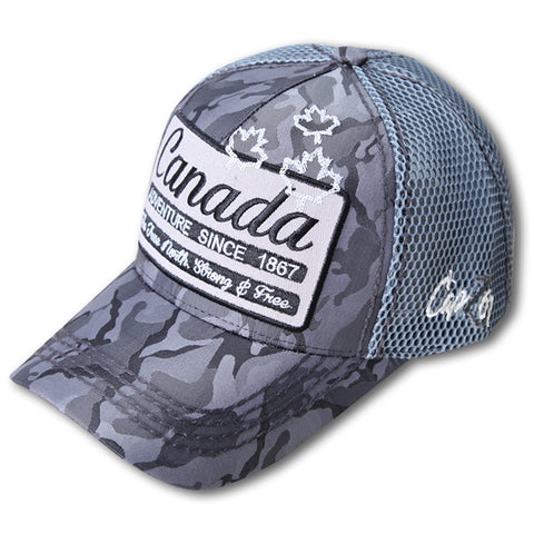 Charcoal Canada Adventure 1867 True North Strong & Free Cap
