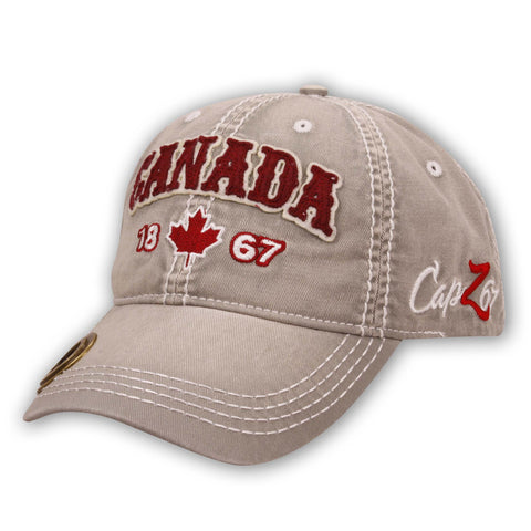 Gray Canada 1867 Maple Leaf Bottle Opener Cap