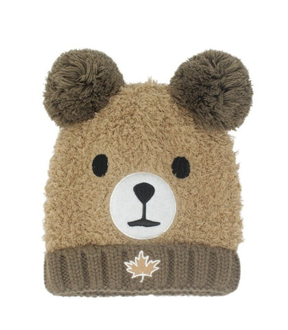 Brown Kids Canada Grizzly Bear Hat